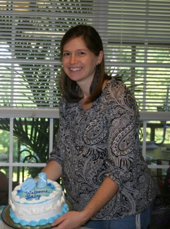 A surprise baby shower (yes, a TOTAL surprise!) given in September (6 months pregnant)