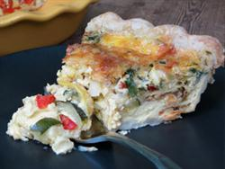 Zucchini Tomato and Cheese Pie