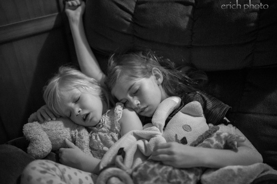 Sleeping girls b&w resize watermark
